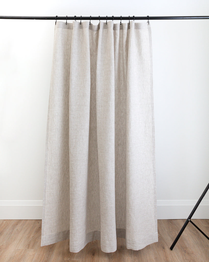 Anthony natural linen shower curtain from Hemme