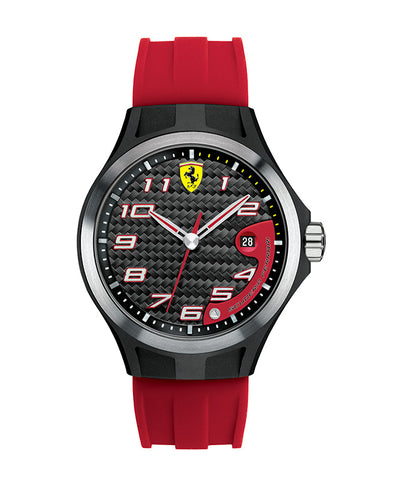 Ferrari Men's Black Face/Red Straps Laptime Watch