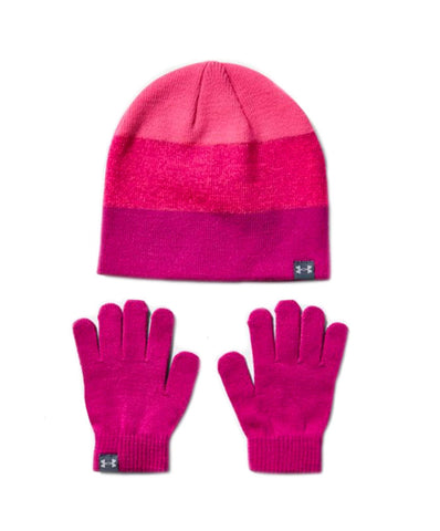 Under Armour Girl's Beanie Glove Combo