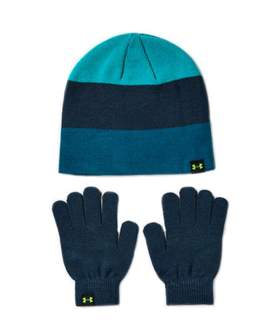 Under Armour Boy's Beanie Glove Combo