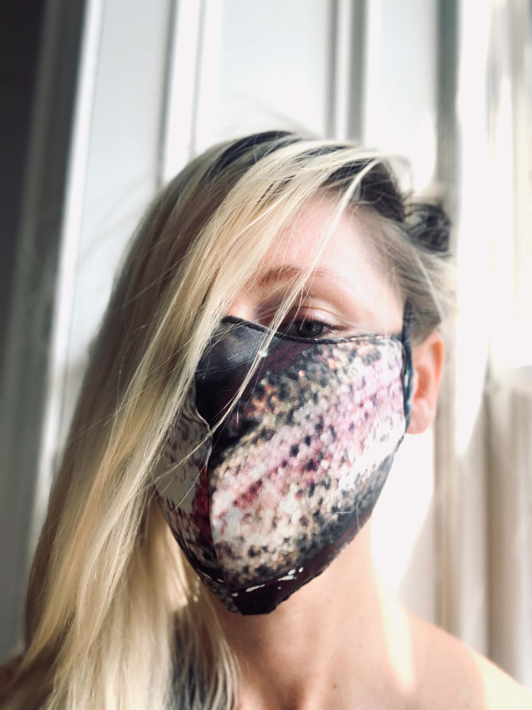 Luxury pink silk face mask