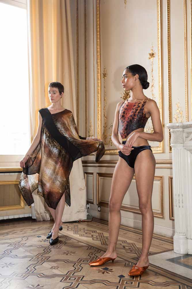 Mona Swims Zahar Skin Kaia Cut-Out Swimsuit Flying Solo Paris Fashion Week BTS