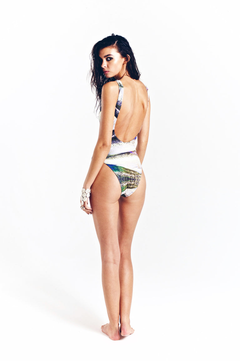 Chimaera printed maillot one-piece swimsuit