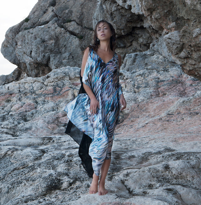 Shell print Selene Cover-up