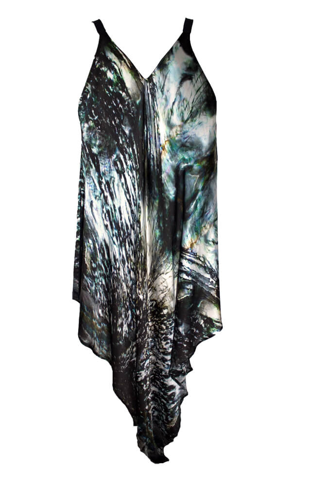 Luxury silk kaftan