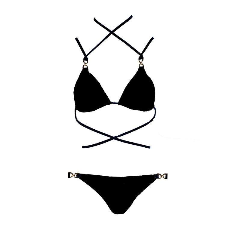 Mona Swims Black Brooklyn Bikini Top