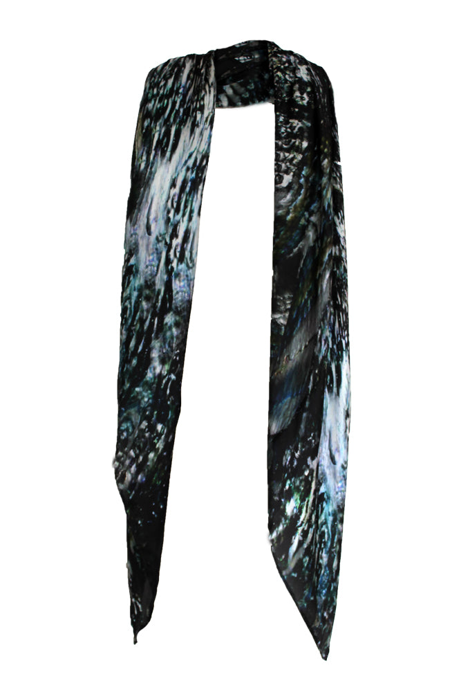 Metal Shell Oversized Silk Scarf