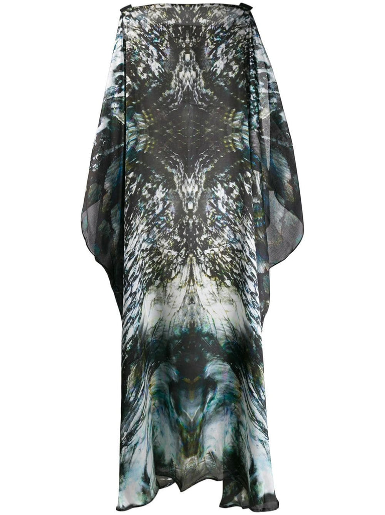 Luxury silk kaftan dress