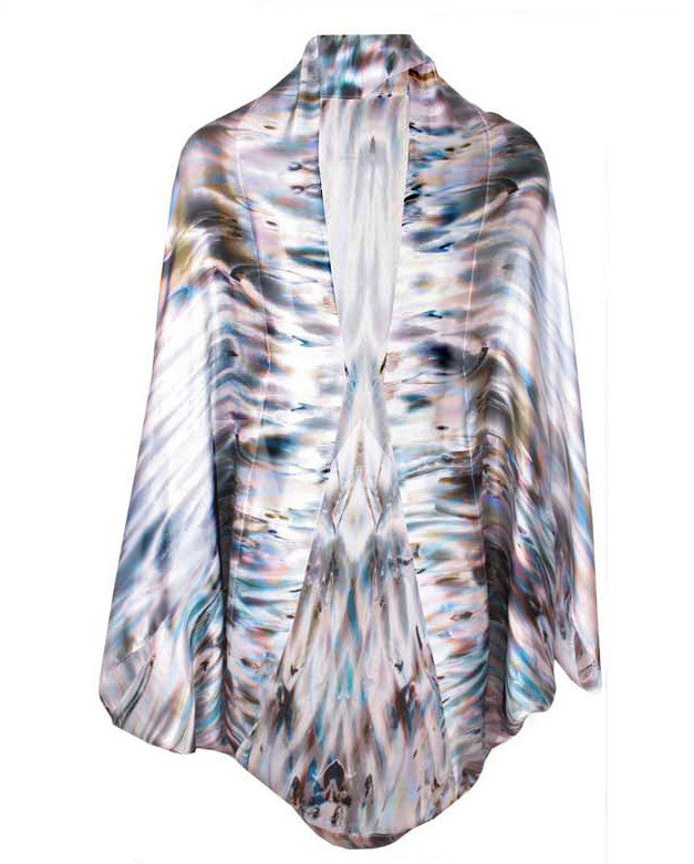 Mona Swims Shell Oversized Silk Cape