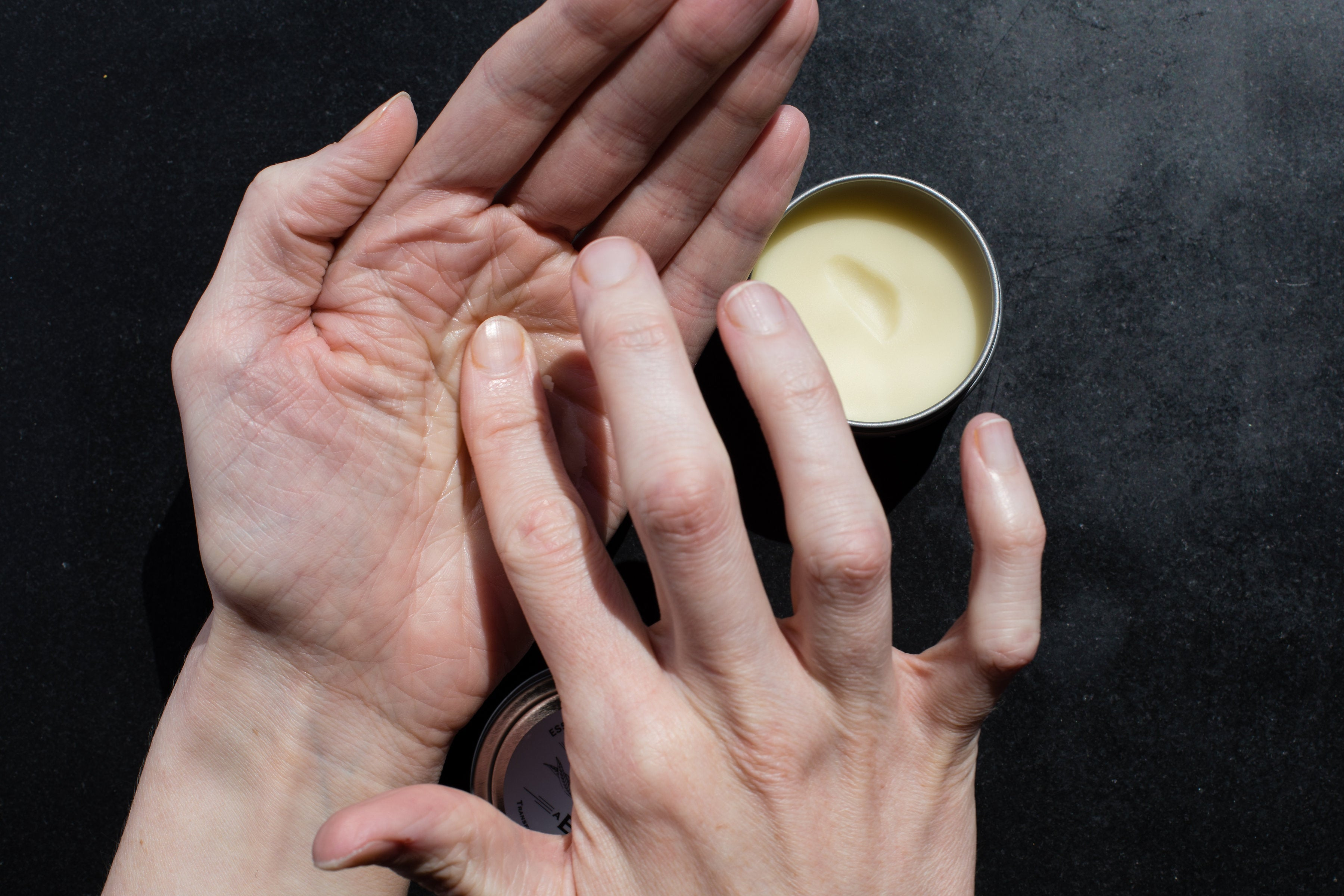 Warm Behave Wax Salve in your palm before use