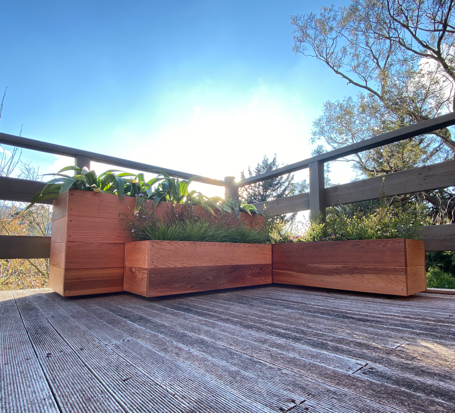 Planter boxes on balcony