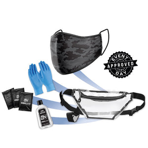 Camo Mask PPE Kit w/ Fanny Pack