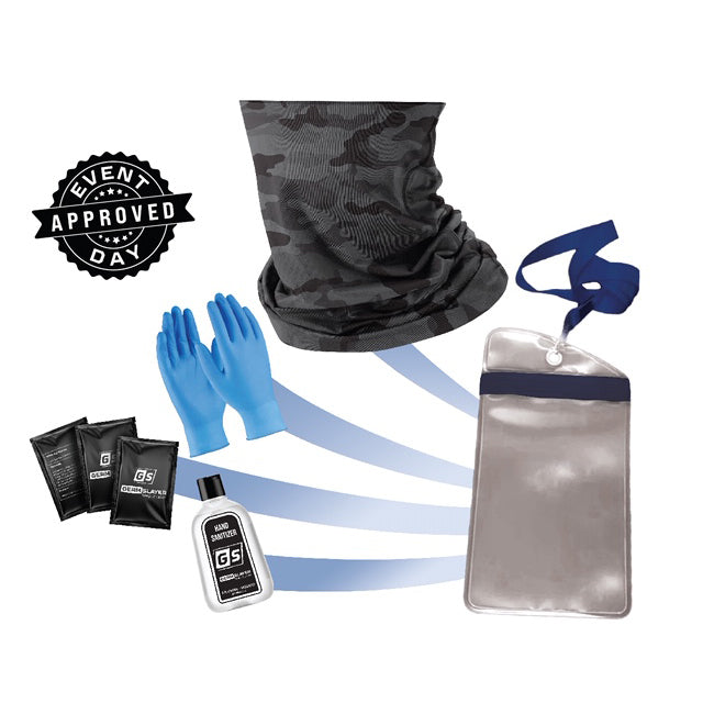 Camo Gaiter PPE Kit w/ Waterproof Phone Case
