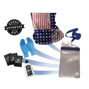 USA Gaiter PPE Kit w/ Waterproof Phone Case