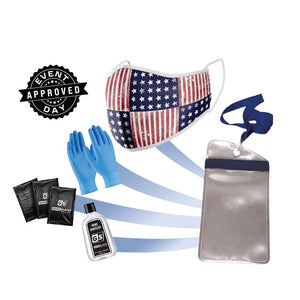 USA Mask PPE Kit w/ Waterproof Phone Case