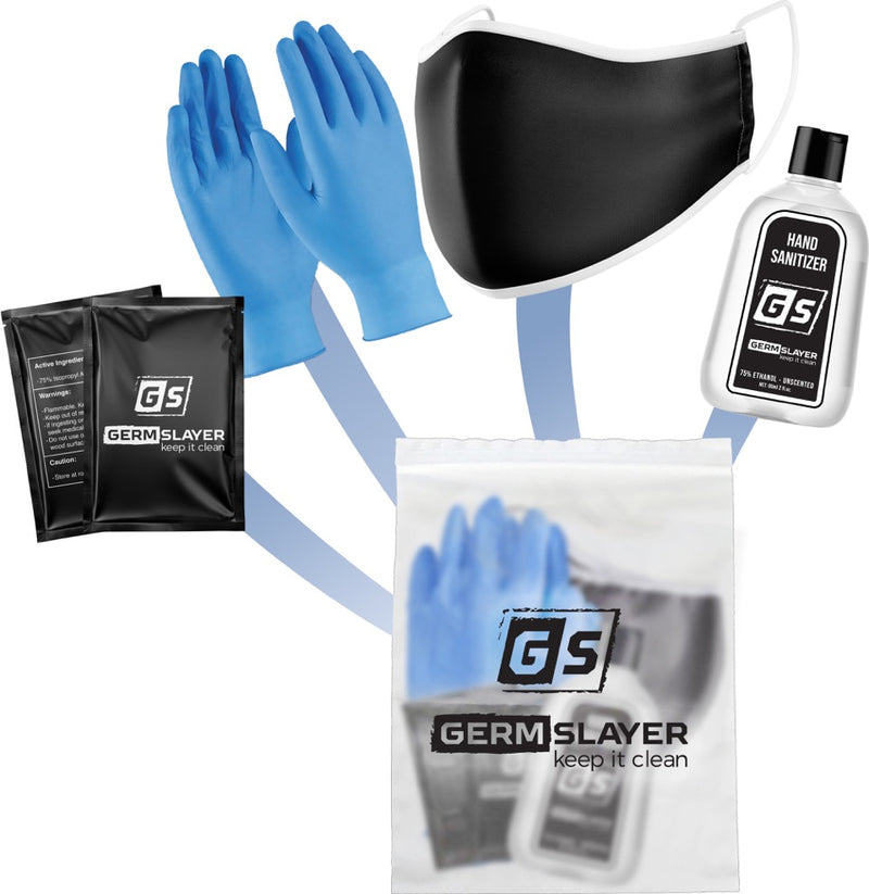 GermSlayer Personal PPE Kit w/ Cloth Mask