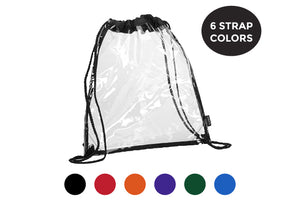 Clear Stadium Drawstring Backpack