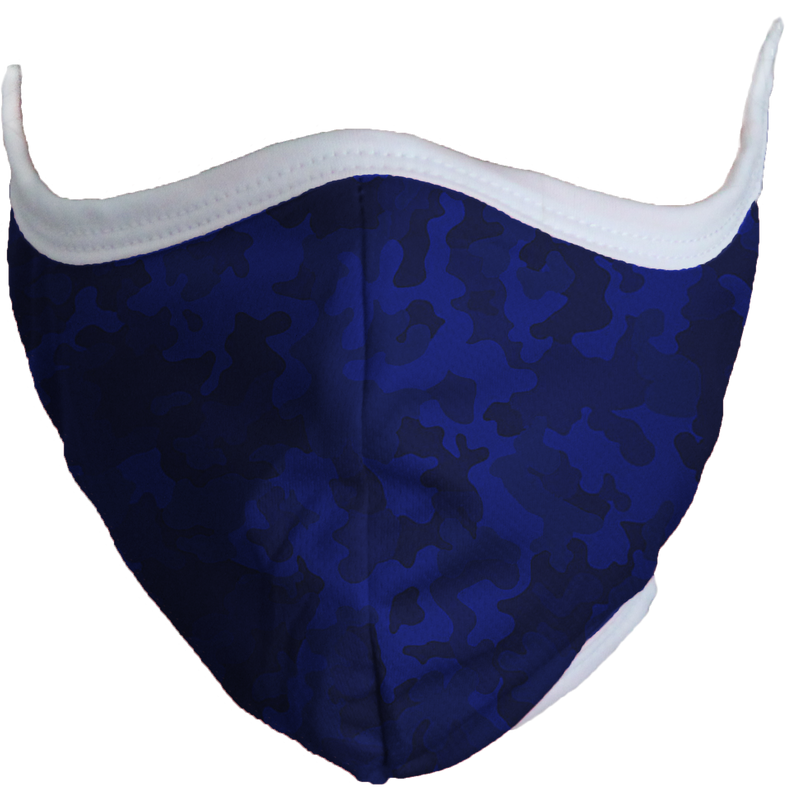 Defender Face Mask (Blue Camo)