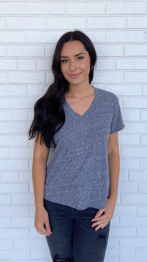 Load image into Gallery viewer, Heather Grey Hendrix V-Neck