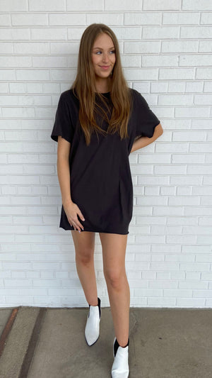 Black Zepplin T-Shirt Dress