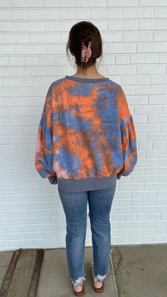 Load image into Gallery viewer, Blueberry Pumpkin Tie-Dye Pullover