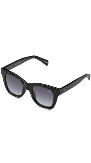 Black Rhinestone After Hours Quay Sunnies