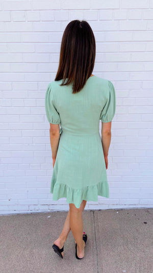 Mint Wrap It Up Dress
