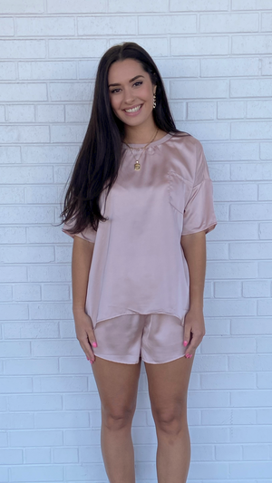 Load image into Gallery viewer, Pink Satin Top