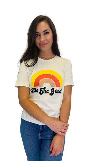 Cream Good Rainbow Tee