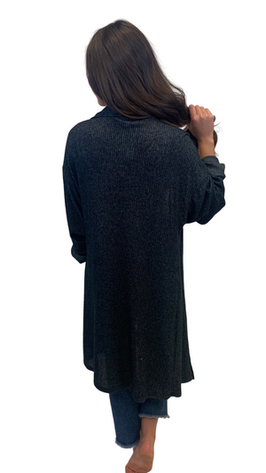 Load image into Gallery viewer, Charcoal Rainy Day Cardi