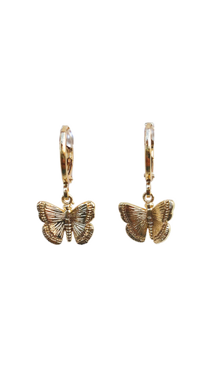 Load image into Gallery viewer, Butterfly Kisses Huggie Earrings