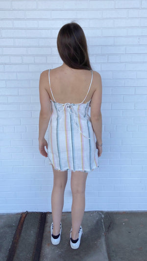 Pastel Sunny Stripes Dress