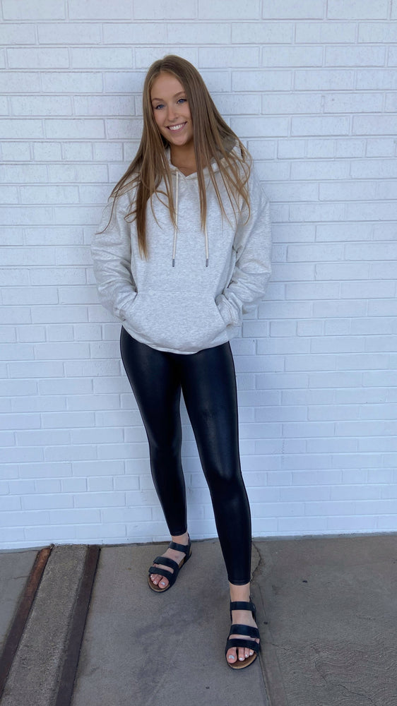 Load image into Gallery viewer, Heather Grey Oversized Hoodie