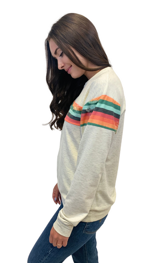 Spread the Love Rainbow Pullover