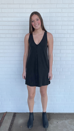 Charcoal Shift Dress