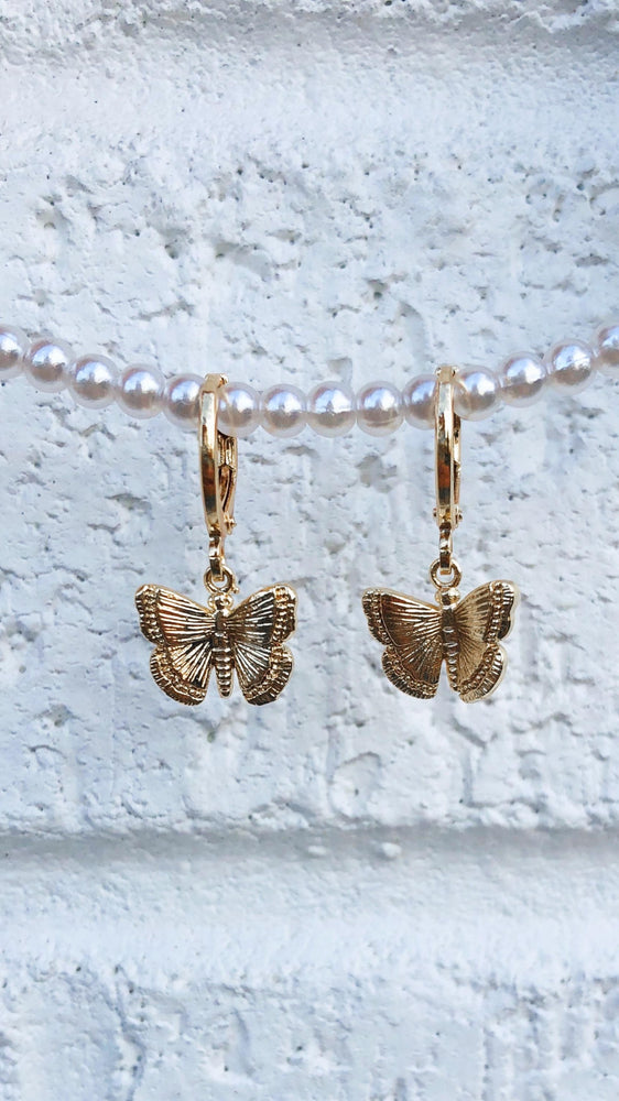 Butterfly Kisses Huggie Earrings