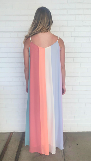 Pastel Color Block Maxi