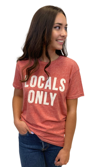 Heathered Red Locals Only Tee