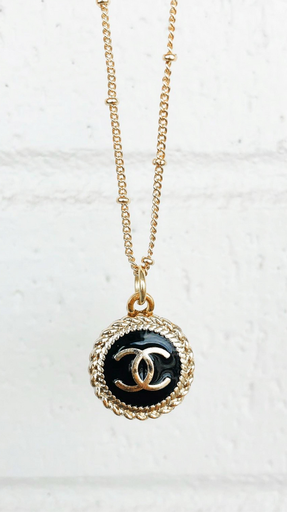 Black Dainty Chanel Necklace