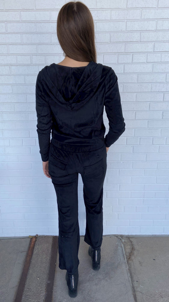 Load image into Gallery viewer, Black Velour Pant