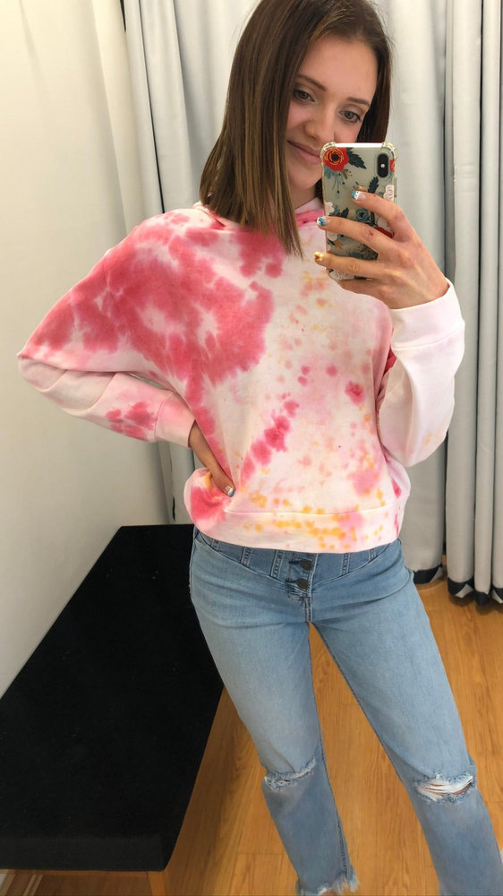 Load image into Gallery viewer, Pink Miami Tie Dye Hoodie