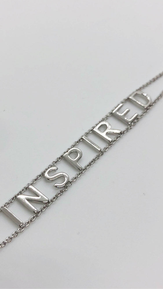 Load image into Gallery viewer, Inspired White Gold Bracelet