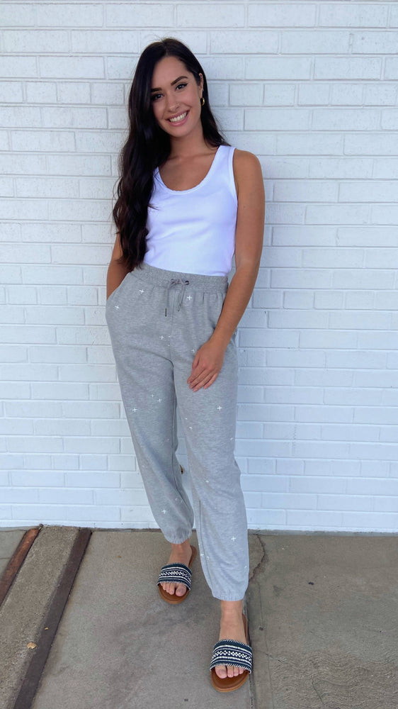 Grey Twinkle Sweatpants