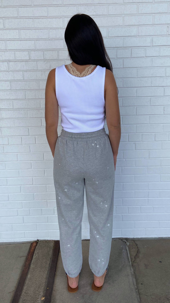 Load image into Gallery viewer, Grey Twinkle Sweatpants