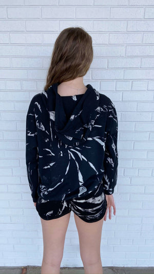 Load image into Gallery viewer, Black Galaxy Tie-Dye Hoodie