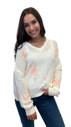 Load image into Gallery viewer, Cream SoCal Star Sweater