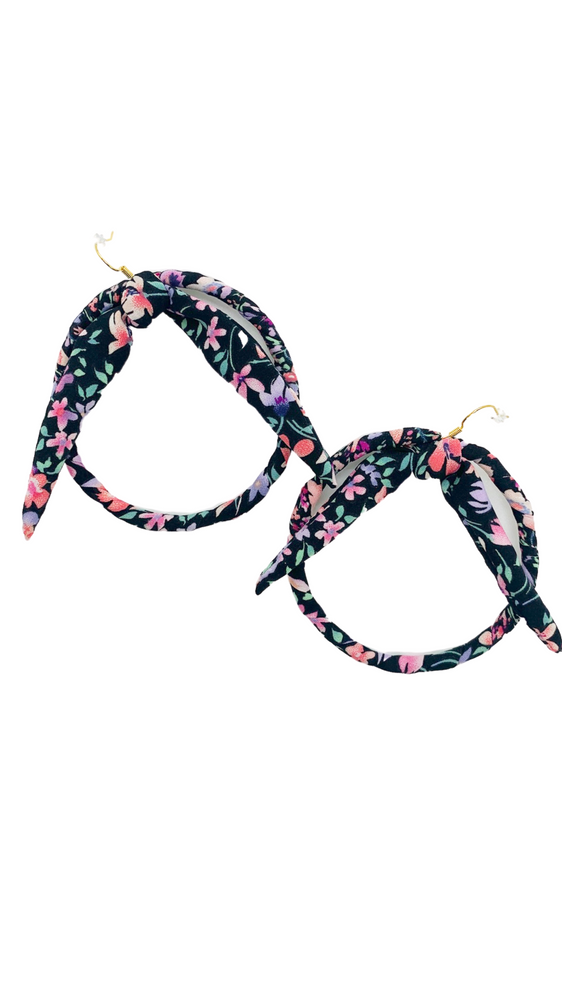 Garden Party Bow Hoop Earrings