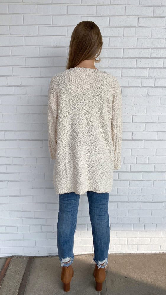 Load image into Gallery viewer, Ivory Popcorn Cardigan
