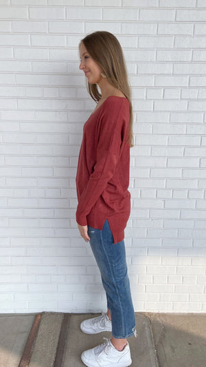 Heather Red Everyday Sweater