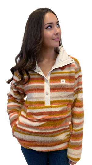 Sunset Stripe Snap Pullover